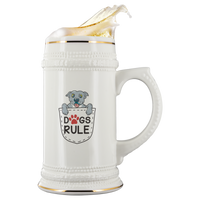 Blue Nose PitBull Puppy In A Pocket White Ceramic Beer Stein Mug (22oz): Funny Gift Idea For Dog & Beer Lovers