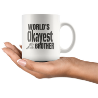 World's Okayest Cat Brother With a Kitty Mug
