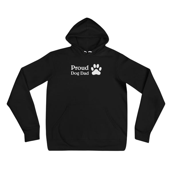 Mens Proud Dog Dad Hoodie With A Paw On The Side
