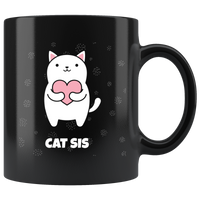 Kawaii Cat Sis Coffee Mug With A Cute Anime Kitty