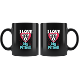 I Love My Pitbull: Funny Dog Lover Graphic  Mug