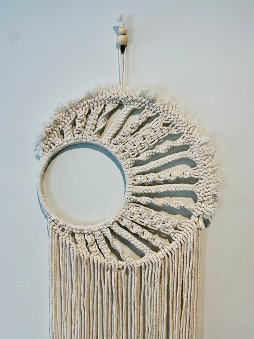 Macrame Moon Wall Hanging
