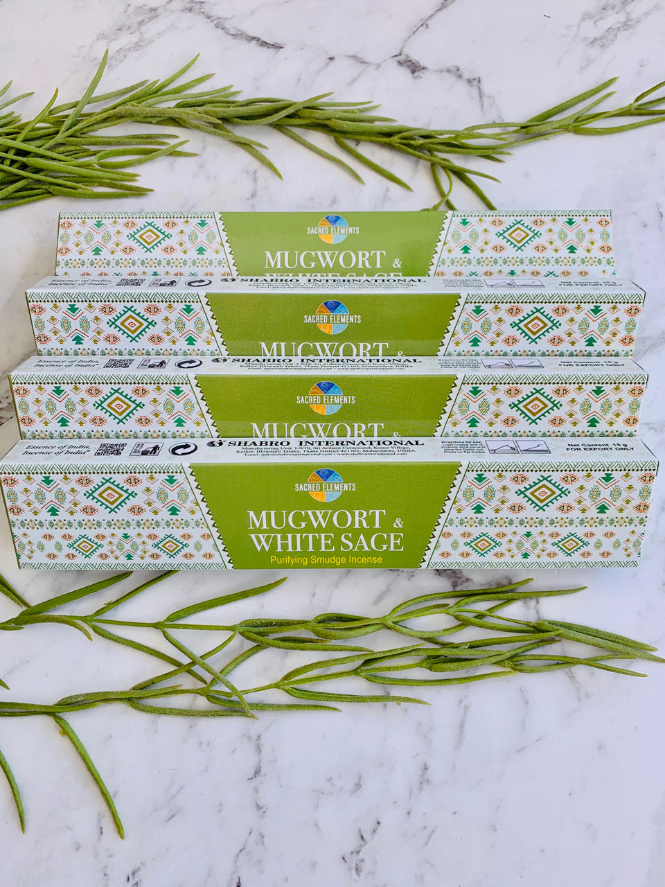 Sacred Elements Mugwort & White Sage Incense Sticks