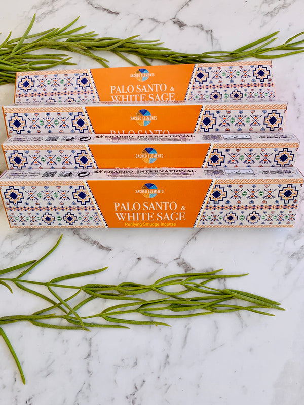 Sacred Elements Palo Santo & White Sage Incense Sticks