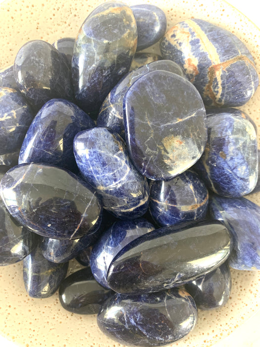Sodalite Palm Stone Large