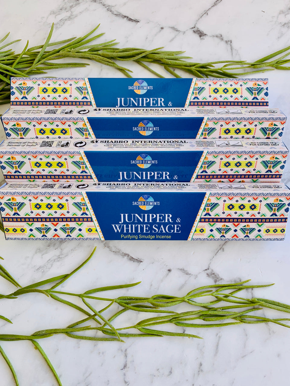 Sacred Elements Juniper & White Sage Incense Sticks