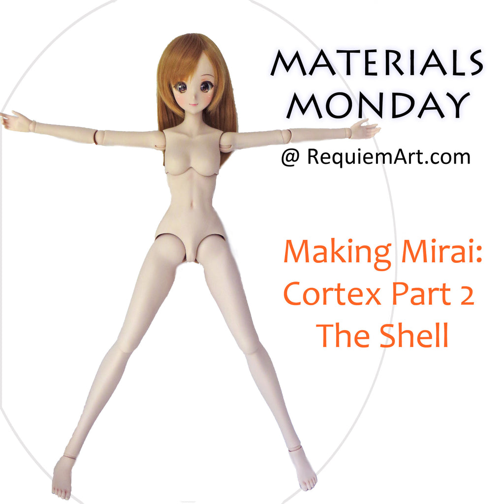 Materials Monday: Making a Mirai Cortex doll with blended seams