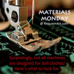 Materials Monday: Sewing Machines for doll clothes
