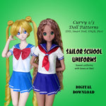 Sailor School Uniforms for Dollfie Dream Smart Doll 1/3 BJD