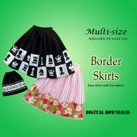 Bordered Skirts