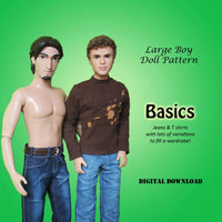 Large Boy Basics: Jeans & T-Shirt