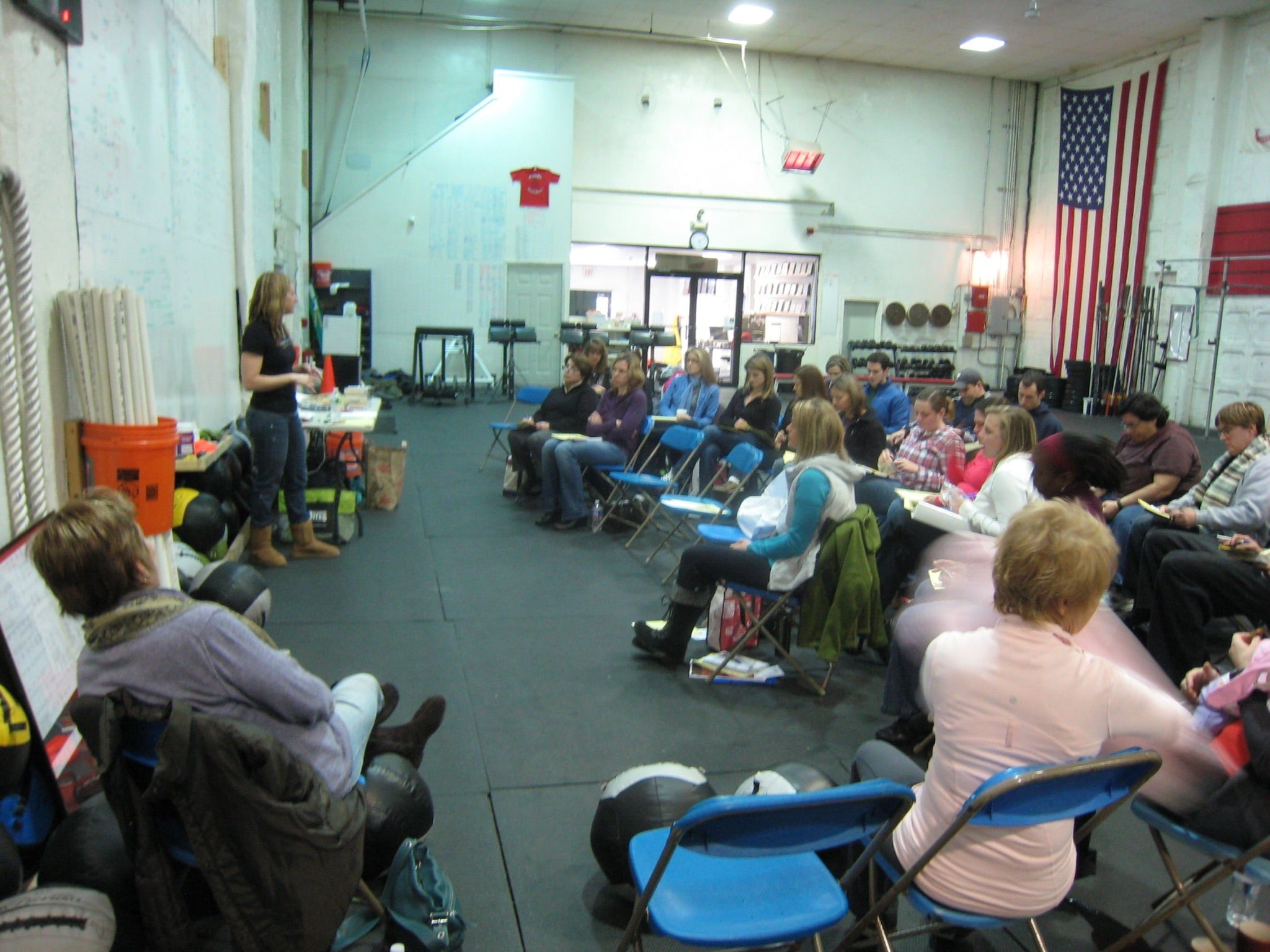 Diane Sanfilippo teaching a seminar CrossFit KOP January 2011