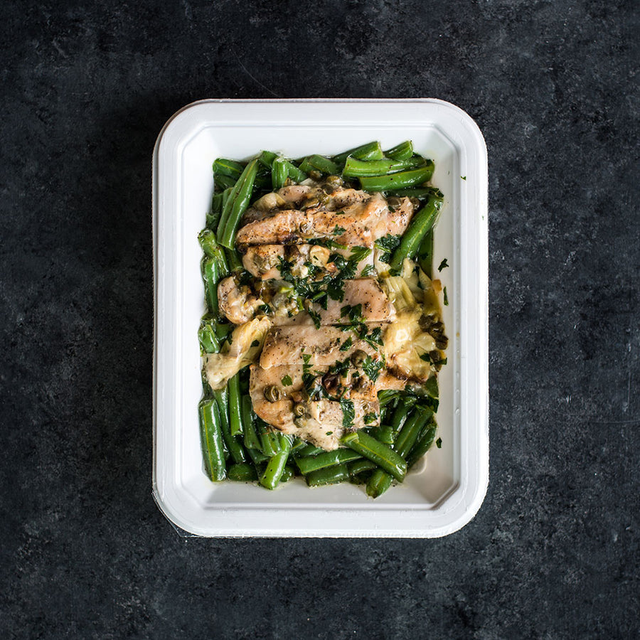 Lemon Artichoke Chicken with Green Beans