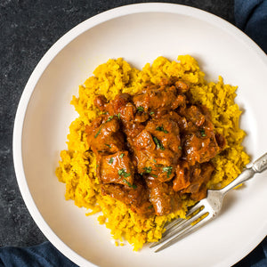 Butter Chicken with Yellow Cauli-Rice