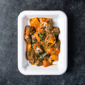 Slow-Cooked Orange Beef with Sweet Potatoes & Carrots