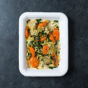 Green Curry Chicken with Carrots and Coconut Cauli-rice