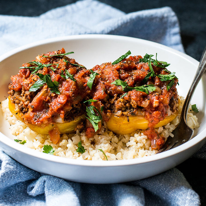 Italian Style Stuffed Bell Peppers (Beef & Turkey)