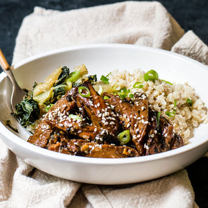 Teriyaki Chicken with Coconut Cauli-rice & Bok Choy