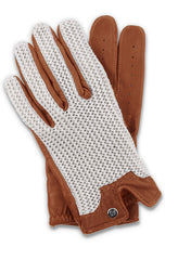 Stringback Driving Gloves - Cognac/Natural
