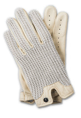 Stringback Driving Gloves - Ivory/Natural