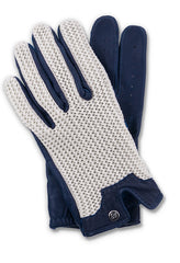 Stringback Driving Gloves - Navy/Natural