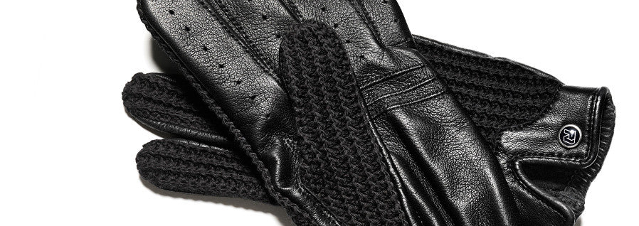 Stringback Driving Gloves - Black/Black