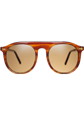 Stelvio Sunglasses - Horn with Cognac