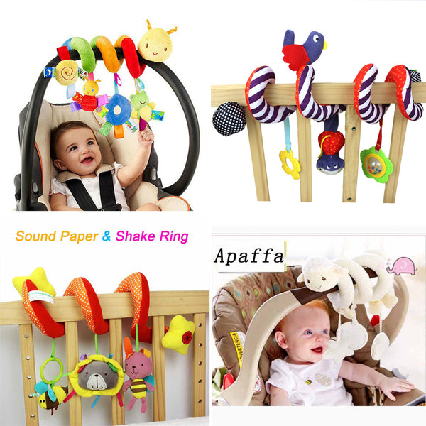 Soft Infant Crib Bed Stroller Toy Spiral Baby Toys For Newborns Car Seat Hanging Bebe Bell