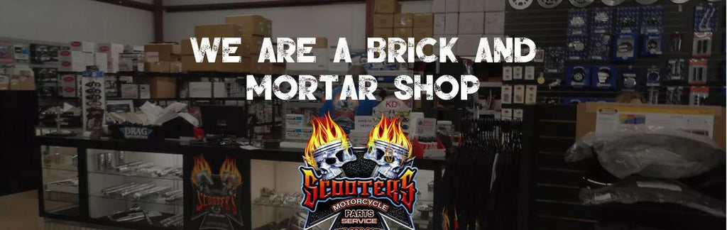 Scooters is your Central Florida connection for custom motorcycle parts 9-4 Mon- Fri