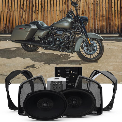 Rockford Fosgate Audio Kit for Select 1998-2013 Harley Davidson Road King Motorcycles