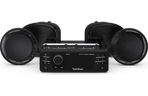 Rockford Fosgate 1998-2013 Harley-Davidson® Road Glide® Ultra Source Unit & 4 Speakers Kit