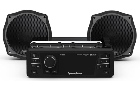 Rockford Fosgate  1998-2013 Harley-Davidson® Street Glide® Source Unit & 2 Speaker Kit Stage 1