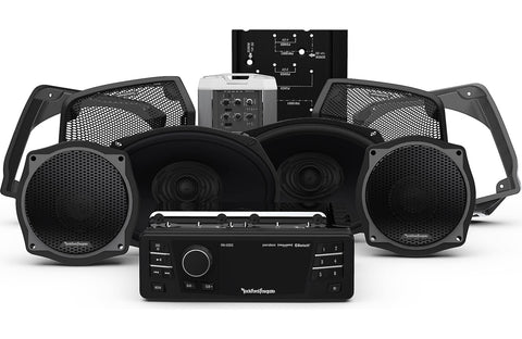 Rockford Fosgate 1998-2013 Harley-Davidson® Street Glide® Source Unit, 4 Speaker & Amp Kit Stage 3