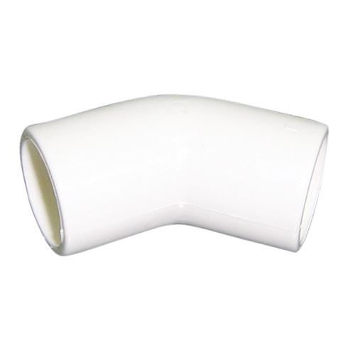 "White 45 deg elbow - 3-4"" ( 21.5mm OD, 15mm ID)"