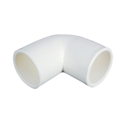 "White 90 deg Elbow - 11-4""  (33.6mm OD, 25mm ID)"