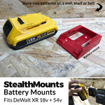 StealthMounts Red Battery Mounts for DeWalt XR