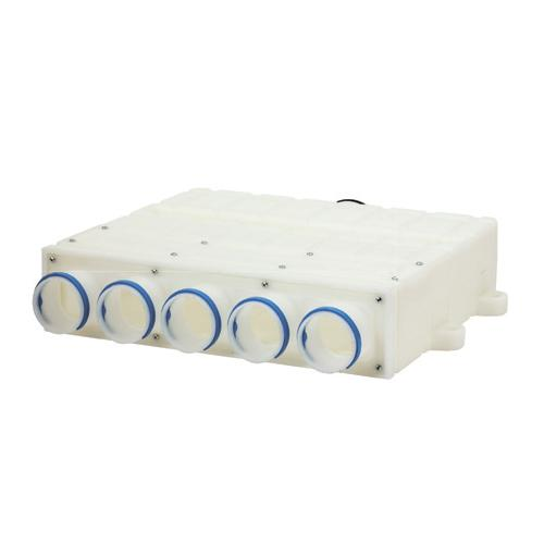 Plastic manifold, 1 x ⌀ 125mm connection, 5 x ⌀ 75mm ports
