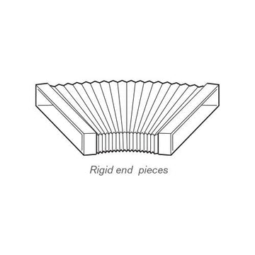 GD rectangular ducting, GD8 flexible bend, rigid ends, 1.5m