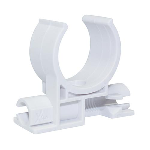 "White Stud mount clips - 1""  (26.8mm OD, 20mm ID)"