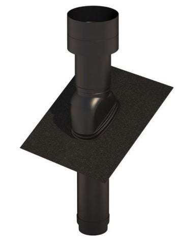 UB47 INSULATED ROOF TERMINAL 150MM BLACK