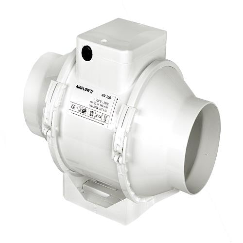 Airflow In-line Mixed Flow Fan - AV125B