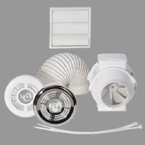 Airflow Aventa 100mm Shower Kit With Timer & Light