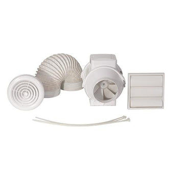 Airflow Aventa 100mm Shower Kit With Timer