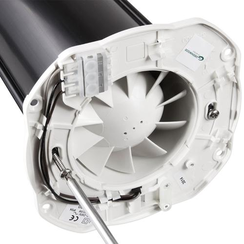 Greenwood Decorative Brushed Chrome Silent Fan With Timer, Remote Operation - 1B-SR100TR-DECOBC