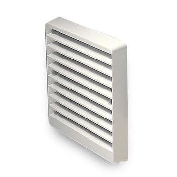 "Greenwood 100mm or 4"" External wall grille white or brown"