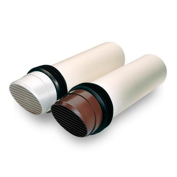 "100mm-4"" Rigid Fast fix Duct - Brown"