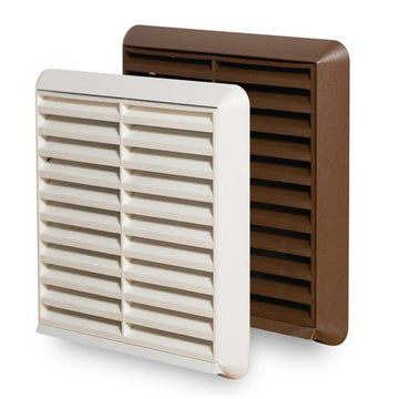 "100mm-4"" External grille with spigot  brown"