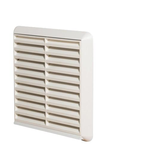 "125mm or 5"" External grille with spigot white"