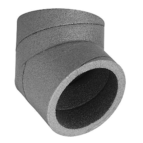 UBBINK AERFOAM 125MM INSULATED DUCT 45 DEGREE BEND