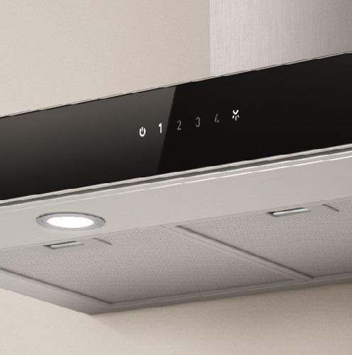 Elica Joy Stainless Steel-Black Glass 600 & 900mm